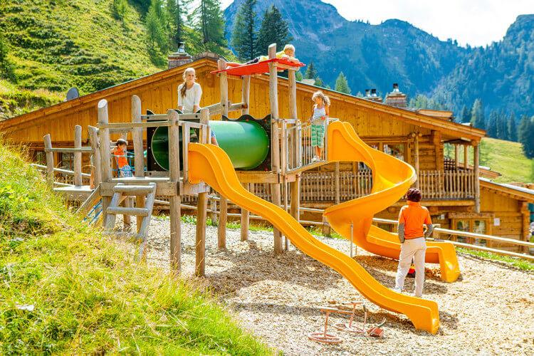 Ausflugsziel im Großarltal, Salzburg - Loosbühelalm mit Kinderspielplatz