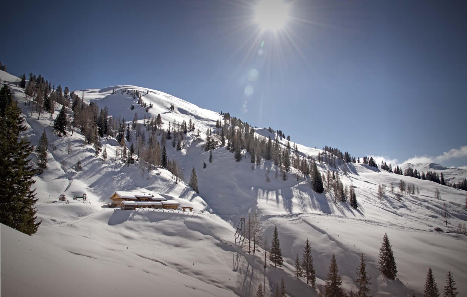 Schneeschuhwandern & Tourengehen im Winter - Loosbühelalm in Großarl